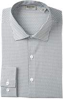 Kenneth Cole Reaction Grid Pattern Slim Fit Dress Shirt