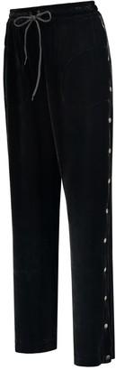Eva D. Sophisticated Sweatpants 'Gummi' With Goldens Press Studs of Silk Velvet