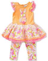 Rare Editions Baby Girls 3-24 Months Easter Bunny Applique Tutu Dress & Printed Leggings Set