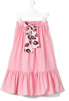 MSGM lace-up pleated skirt - kids - Cotton - 4 yrs