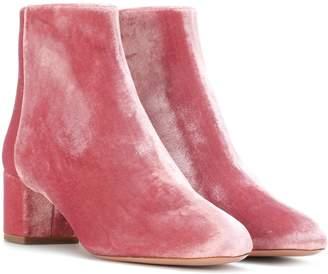 Aquazzura Brooklyn 50 velvet ankle boots