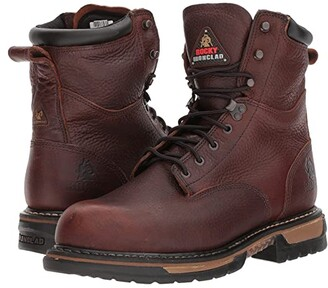 Rocky 8 Ironclad Steel Toe WP (Brown) Men's Shoes
