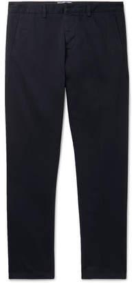 Ami Navy Slim-Fit Cotton-Twill Chinos