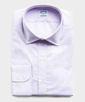 Hamilton Made in USA + Todd Snyder Lavender Stripe Dress Shirt