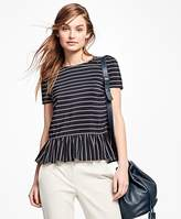Brooks Brothers Striped Silk Blouse