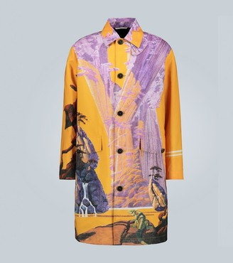 Valentino Exclusive to Mytheresa Yellow City coat