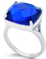 Charter Club Silver-Tone Blue Stone Ring, Only at Macy's