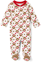 Baby Starters Red & White Monkey Footie - Infant