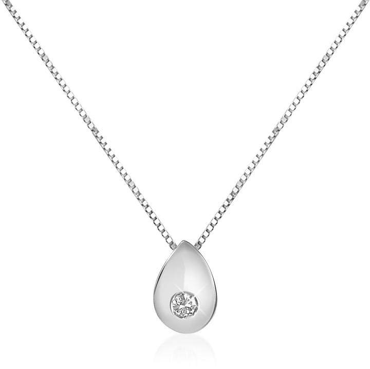 Forzieri 0.02 ct Diamond Drop 18K Gold Necklace