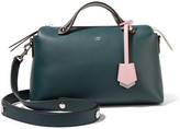 Fendi By The Way Small Color-block Leather Shoulder Bag - Emerald