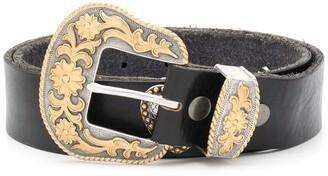 Jessie Western Concho Heart buckle belt