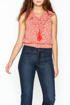 Moon River Lace Up Blouse