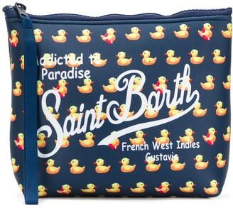 MC2 Saint Barth Duck Print Logo Wash Bag