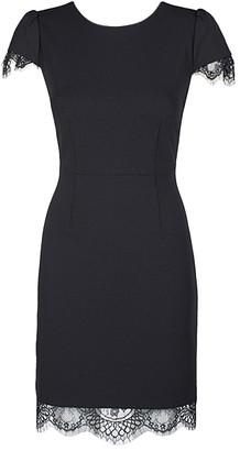 Liz Claiborne Women's Cocktail Dresses BLACK - Black Lace-Time Cap-Sleeve Dress - Women