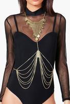 Boohoo Aimee Chainmail Bib Style Body Chain