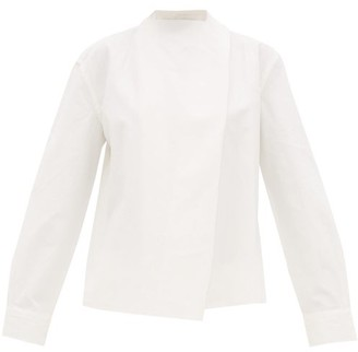 Bottega Veneta Tie-neck Linen Blouse - Womens - White