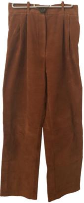 Awake Camel Velvet Trousers