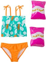 Jump N Splash Toddler Girls' Sassy Seashell TwoPiece Swimsuit w/ Free Floaties (2T-3T) - 8143013