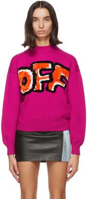 Off-White Pink Graffiti Sweater