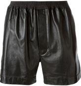 Rick Owens leather boxer shorts