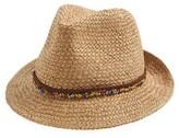 Steve Madden Women's Woven Panama Hat - Beige