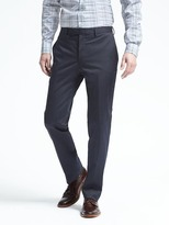 Banana Republic Standard Stretch Cotton Solid Suit Trouser