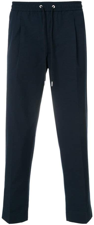 Moncler cropped track trousers