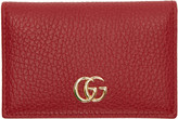 Gucci Red Gg Bifold Card Holder