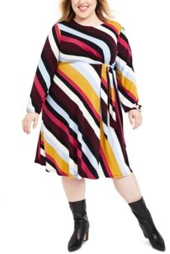 Motherhood Maternity Plus Size Belted Dress