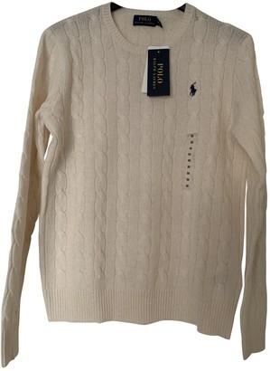 Polo Ralph Lauren White Cashmere Knitwear