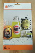 Martha Stewart Crafts -monsters Beverage Labels - 6 Piece - 48-20334