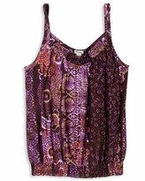 H81 Violet Floral Top