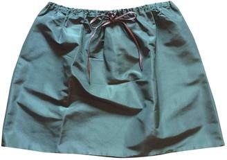 Miu Miu Green Silk Skirt for Women