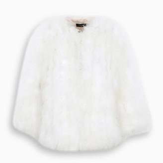 Yves Salomon Black feathers fur