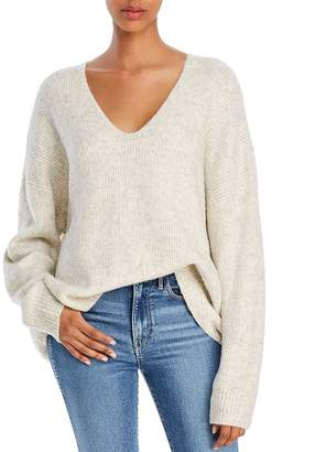 French Connection Flossy Oversized Ribbed V-Neck Sweater