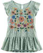 Knitworks Girls 7-16 Embroidered Lace Top