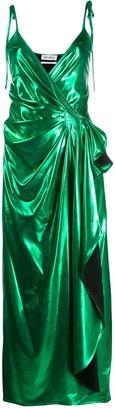 ATTICO draped midi dress