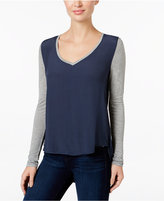 Calvin Klein Jeans Colorblocked V-Neck Top