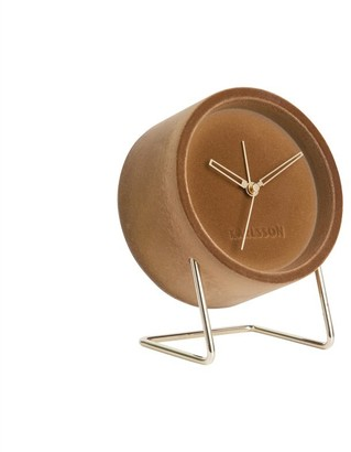 Karlsson Lush Velvet Alarm Clock - Caramel Brown