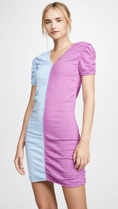 Short Sleeve Combo Dress