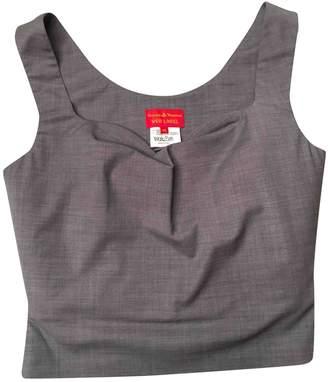 Vivienne Westwood Grey Wool Top for Women Vintage
