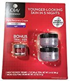 Olay Regenerist Regenerating Night Recovery Moisturizer Cream, 1.7 Ounces (Pack of 2 with Bonus Micro Sculpting Cream)