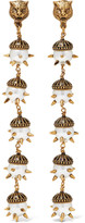 Gucci Gold-plated Faux Pearl Clip Earrings - one size