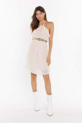Nasty Gal Womens What Doesn't Frill You Halter Mesh Dress - Pink