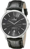 Edox Men's 56001 3 Gin Les Bemonts Analog Display Swiss Quartz Watch