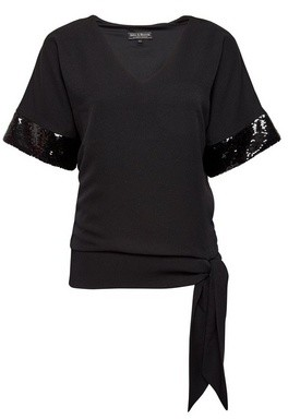 Dorothy Perkins Womens **Billie & Blossom Black Sequin Kimono Top, Black