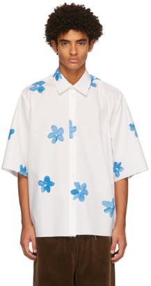 Camiel Fortgens SSENSE Exclusive White Flower Short Sleeve Shirt