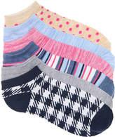 Kelly & Katie Plaid No Show Socks - 6 Pack - Women's