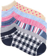 Kelly & Katie Women's Plaid No Show Socks - 6 Pack -Multicolor
