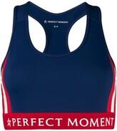 Perfect Moment logo band sports bra